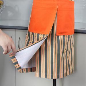 Quality Bib Style Stripe Pattern Cotton Kitchen Apron 70x80cm , Personalised Kitchen Aprons for sale