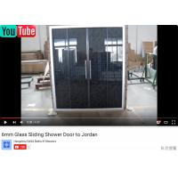 Wholesale Sliding Shower Glass Shower Screens Shower Door Jordan/Kuwait/Iraq/Syria/Pakistan Sanitary Ware Business, Bathroom  Show from china suppliers