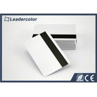 Wholesale ISO White RFID Chip Card / Blank Magnetic Strip Card Signature Panel from china suppliers