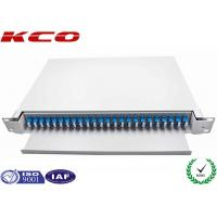 Wholesale 48 Cores LC Single Mode Pigtails Drawer Fiber Optic Terminal Box Slide Patch Panel​ from china suppliers