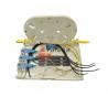 Buy cheap 4 Port Fiber optic terminal box OTB FTB104E Plastic White for FTTH Drop Cable 2*3MM from wholesalers