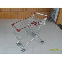 Wholesale 125L Grocery Store Supermarket Shopping Carts With Zinc Plated / Shopping Push Cart from china suppliers