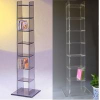 China grid inserts nice acrylic cd rack CD holder Disc stand on sale