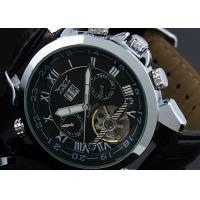 Wholesale Years Black Stainless Steel Wristwatch 43mm Case , Tourbillon Mens Watch from china suppliers