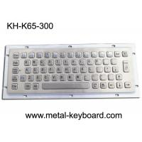 Wholesale Ruggedized Industrial Metal Keyboard For Info Kiosk , Compact Entry SS Keyboard from china suppliers