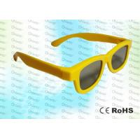 Wholesale Yellow Ghost And Flicker Free Circular Polarized 3d Glasses For 3D TV Use from china suppliers