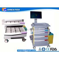 Quality Luxurious Wireless Nursing Trolley Hospital Medical Cart , hospital computer cart (GT-QNT3701) for sale