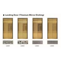 Wholesale Strong Elevator Spare Parts Golden Stainless Steel Elevator Doors Customized Decoration from china suppliers