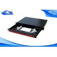 Wholesale Light Weight Fiber Distribution Panel , 48 Port Fiber Patch Panel Rack Mount For ODF Tray from china suppliers