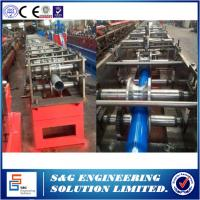 Wholesale Galvanized Steel Pipe Roll Forming Machine 11KW Automatic Flying Saw Cutting from china suppliers