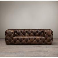 Wholesale Comfortable Country Antique Vintage Style Living Room Tufted leather sofa furniture from china suppliers