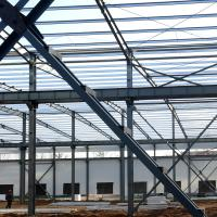 China Fabricated Light Type Q235 Q345 Pre Built Metal Buildings Prefabricated Steel Structure on sale