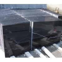 Wholesale Nero Marquina Black Marble paving slabs / flooring tiles with 1 - 3cm Thickness from china suppliers