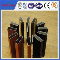 Wholesale Aluminium profile wood color , OEM design 6063 grade aluminium triangle tube allibaba com from china suppliers