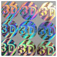 Wholesale Custom die-cut hologram printer labels 3D security label,Anti-fake 3D hologram label,security custom hologram sticker from china suppliers