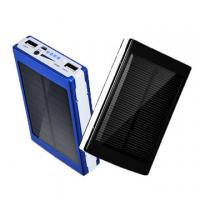 Wholesale Outdoor Flashlight Solar Mobile Phone Charger Solar Power Bank With Camping LED Lights from china suppliers