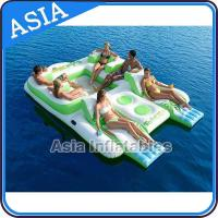 Wholesale Capacity 6 Persons Inflatable Island Floating Lounge Inflatable Water Lounge from china suppliers
