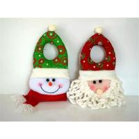 Wholesale indoor santa claus head type christmas decoration wholesale 2016 unique christmas door hanger craft from china suppliers