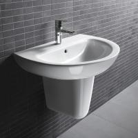 Buy cheap 500x460x840mm D206 Bathroom unique Pedestal wall hung wash basins cloakroom sink from wholesalers