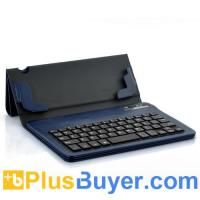 Wholesale Detachable Bluetooth Keyboard + Leather Case For Samsung Galaxy Note 8.0 - Blue from china suppliers