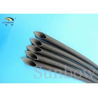 Quality Silicone Coated Glass Fibre Sleeving High Temperature Silicone Fiberglass Sleeving 5mm Black for sale