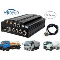 Buy cheap AHD 720P 960P HDD SD card 3G Mobile DVR / MDVR 4 channel dvr integrate with Oil Sensor from wholesalers