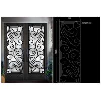 Wholesale Top Notch Security Easy Cleaning Inlaid Door Wrought Iron Glass from china suppliers
