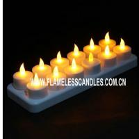 Wholesale Home Decoration or Wedding Rechargeable LED Tea Lights / Flickering Rechargeable Candles from china suppliers