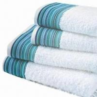 Wholesale Bath Towels with Colored Stripes, ODM and OEM Orders are Welcome from china suppliers