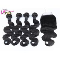 Wholesale 8-38 Inch Human Hair Extensions With Lace Closure Bundles Deal For A Full Head from china suppliers