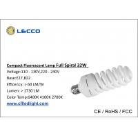 Quality T4 CFL LED Light E27 32W Full Spiral Lamps For Home Lighting SDCM  < 5 for sale