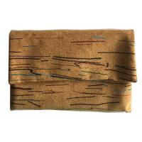 Wholesale Colored Lines Style Cork clutch 6.7''x4.5'' with button closure, customized color is available from china suppliers