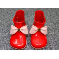Wholesale Comfortable Little Kids Shoes Childrens Rain Boots Plastic Upper With Bowknot from china suppliers