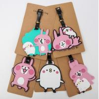 Wholesale Custom Newest Design Cartoon Soft PVC Luggage Tags Custom Rubber Bag Tags from china suppliers