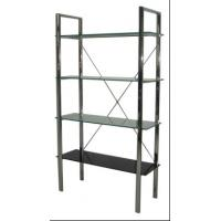 Wholesale Four Layer Glass Wall Metal Book Shelf , Tall Metal Office Bookshelves from china suppliers