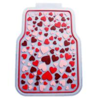 China Rubber Latex Pure Material Universal Car Mat With Pink Lovely Pattern on sale