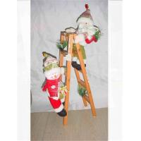 Wholesale Christmas Gift Wooden Ladder Santa Climbing Ladder or withSnowman 48cm Wholesale from china suppliers