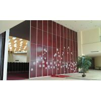 Buy cheap Folding Movable Wooden Partition Walls For Conference Room Top Hanging System from wholesalers