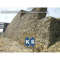 Wholesale Galvanized Gabion Box Retaining Walls / Gabion Stone Basket Fence from china suppliers