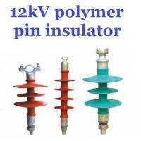 Wholesale Overhead Line Polymer Pin Insulator , 12kV Silicone Rubber Insulator Creepage 380mm from china suppliers