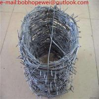 Buy cheap Anti-oxidation High Quality Hot Dipped Galvanized PVC Coated Barbed Wire/barbed wires price per roll from wholesalers