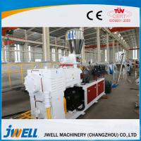 China Decoration Plastic Profile Extrusion Line , Plastic Sheet Extrusion Line Vacuum Calibration on sale