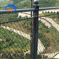 Buy cheap Seamless Ferruled 1.5 mm wire rope 60 mm eye size balustrade security wire rope mesh net from wholesalers