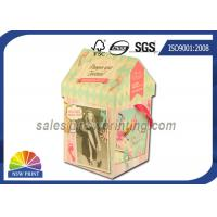 Wholesale Personalized House Shaped Rigid Decorative Paper Boxes Presentation Box With Ribbon from china suppliers