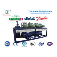 Wholesale R404a Bitzer Brand Screw Type Parallel Compressor Racks For Chemical Cold Room from china suppliers