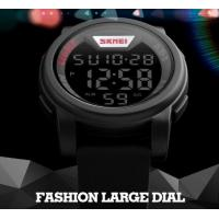 Wholesale Fashion Big Dial Men Multifunction Casual Wrist Watches 5 ATM Chrono Watches 1218 from china suppliers