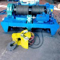 China Electric wire rope double drum winch applied in South Africa shipyard on sale