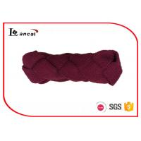 Wholesale Twist Braid Style Burgundy Knitted Snood Scarf Red Hooded Cowl Scarf from china suppliers