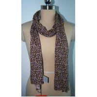 Wholesale Fashion Ladies Scarf , Leopard Print Silk Scarf Soft Hand Feeling from china suppliers