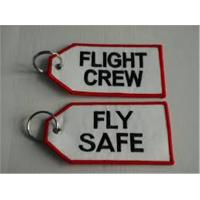 Wholesale Flight Crew Fly Safe Fabric Embroidery Pilot Key Chains Keyring from china suppliers